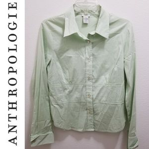 ANTHRO 'Odille' Green Top